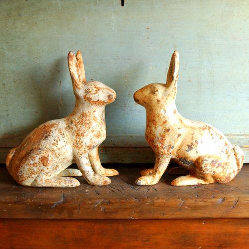 Cast Iron Rabbit Garden Statue Wiltsie Bridge Country Store