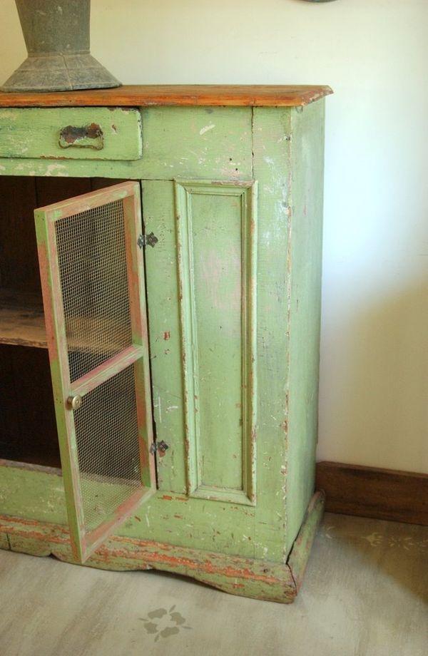 Large Primitive 1800 S Pie Safe Cupboard Cabinet Wiltsie