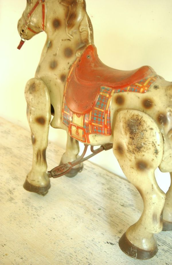 Retro Vintage Mobo Child S Horse Riding Toy With Advertising Made In England Wiltsie Bridge