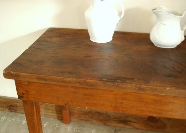 Antique 1800 S Industrial Farm Harvest Table Primitive