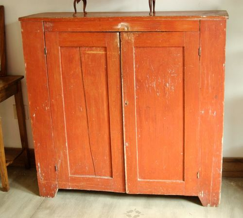 1800s Primitive Farmhouse Painted Jelly Cabinet Cupboard Cabinet ...