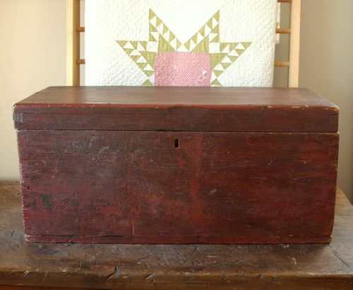 Antique Primitive Blanket Trunk Dating From The Early To Mid 1800u0027s,  Beautiful Red Painted Finish Over Black Which Has Crackled And Developed A  Rich Patina ...