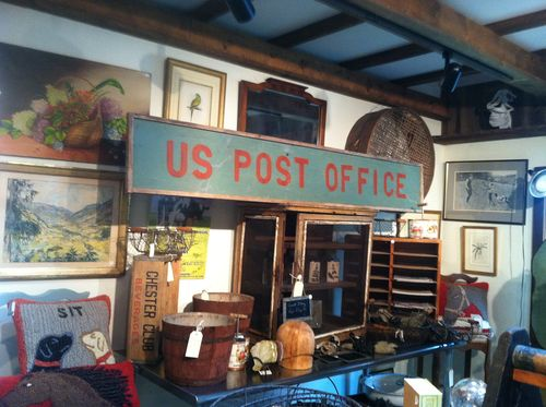 Large Vintage US Post Office Sign Made Of Antique Wood, Great Decorating  Piece Inside The Home Or On The Side Of A Barn.