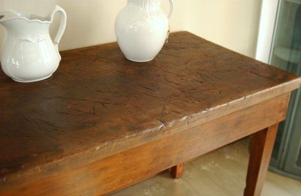 Antique 1800 S Industrial Farm Harvest Table Primitive