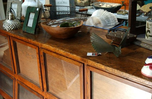 Antique Country Store Grain Counter 1800 S Oak With
