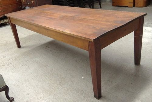 large vintage farm harvest dining table 8ft rustic industrial shaker