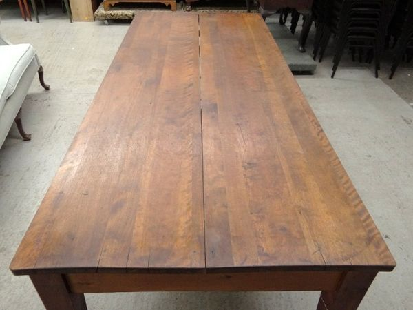 Merveilleux Large Vintage Farm Harvest Dining Table, 8ft Rustic Industrial Shaker    Wiltsie Bridge Country Store